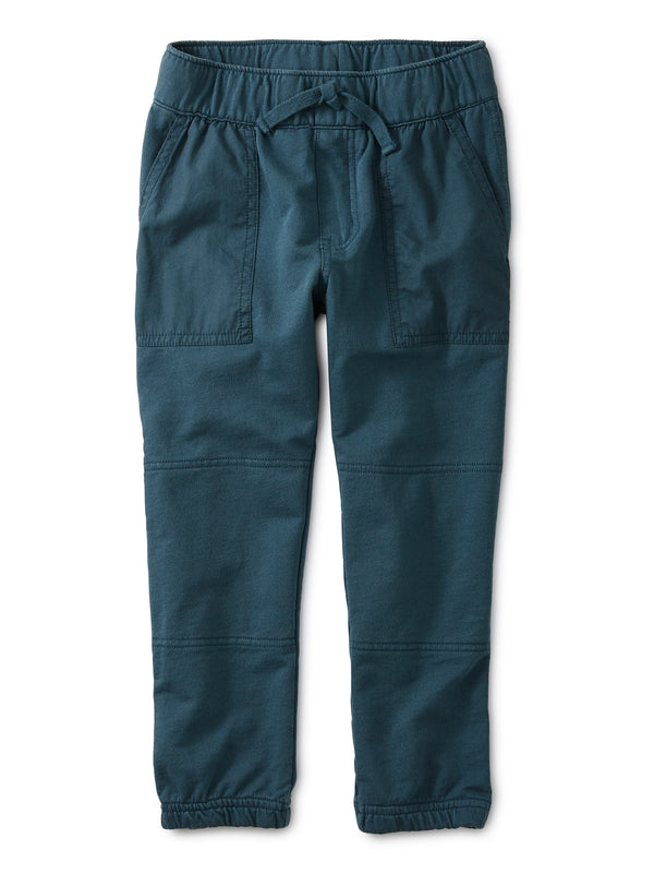 Bedford Blue Woven Patch Pocket Joggers