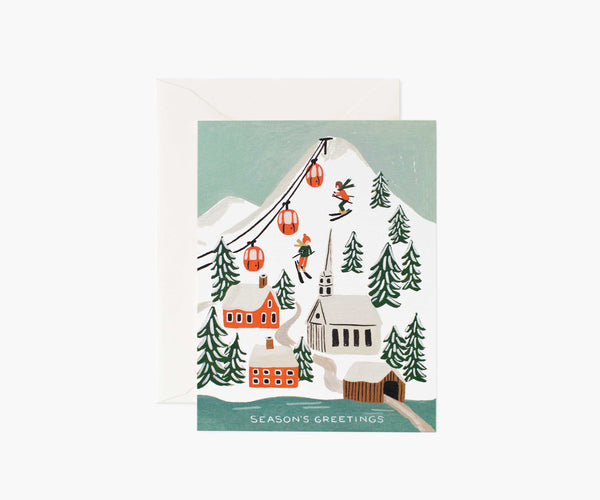 Holiday Snow Scene Greeting Card