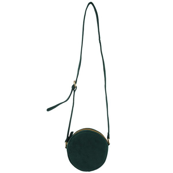 Small Moon Bag Velvet Dark Green