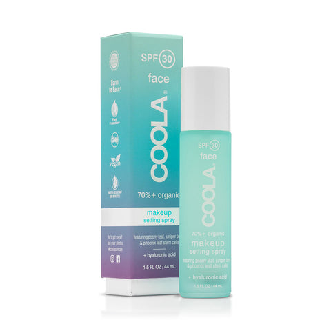 Coola - Makeup setting spray SPF 30 med grøn te.