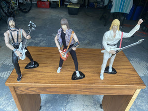 Spinal Tap Action Figures Set of 3 Nigel Tufnel, David St. Hubbins, Derek Smalls