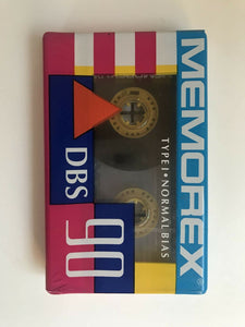 Memorex DBS 90 Single Blank Audio Cassette Tape Vintage New FREE SHIPPING