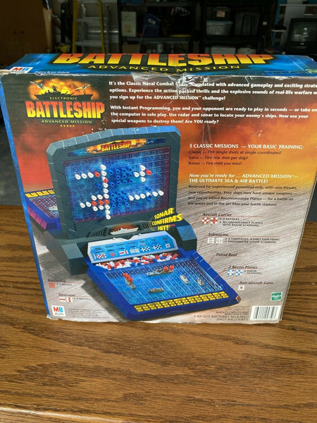 Electronic BATTLESHIP Advanced Mission Electronic Game Complete Working