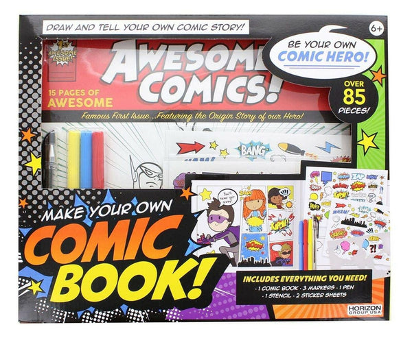Horizon Group USA Make Your Own Comic Book FREE SHIPPING New