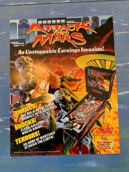 Attack from Mars Pinball Flyer