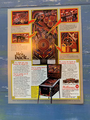 Black Knight Pinball Flyer