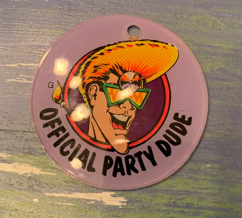 Dr. Dude or Party Zone Pinball Machine Keychain