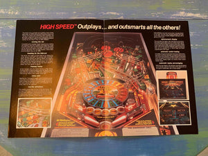 High Speed Pinball Flyer