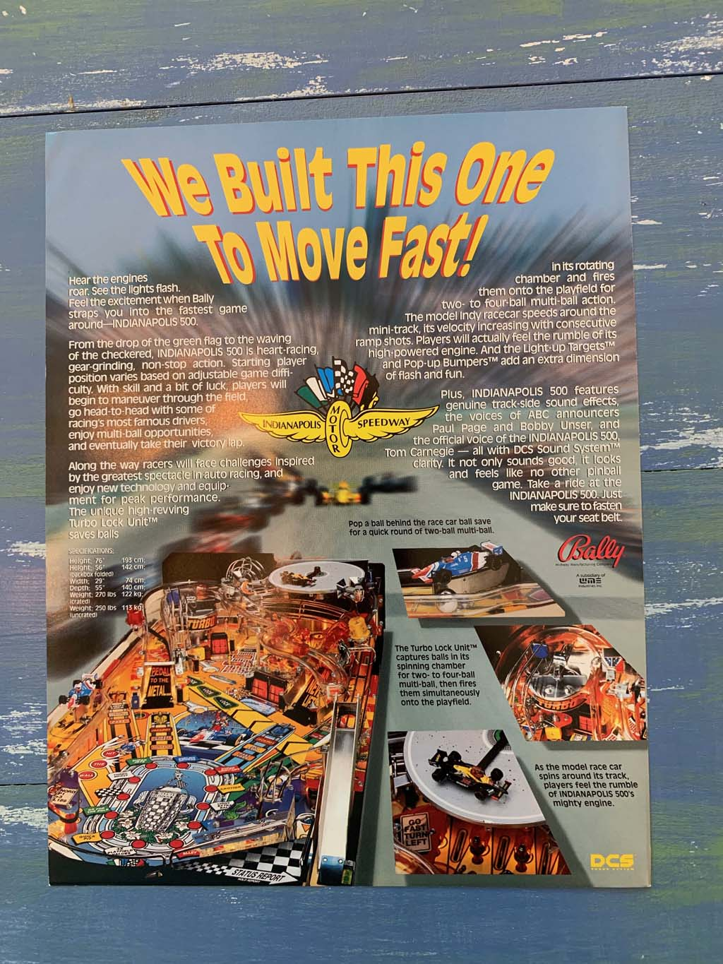 Indy 500 Pinball Flyer