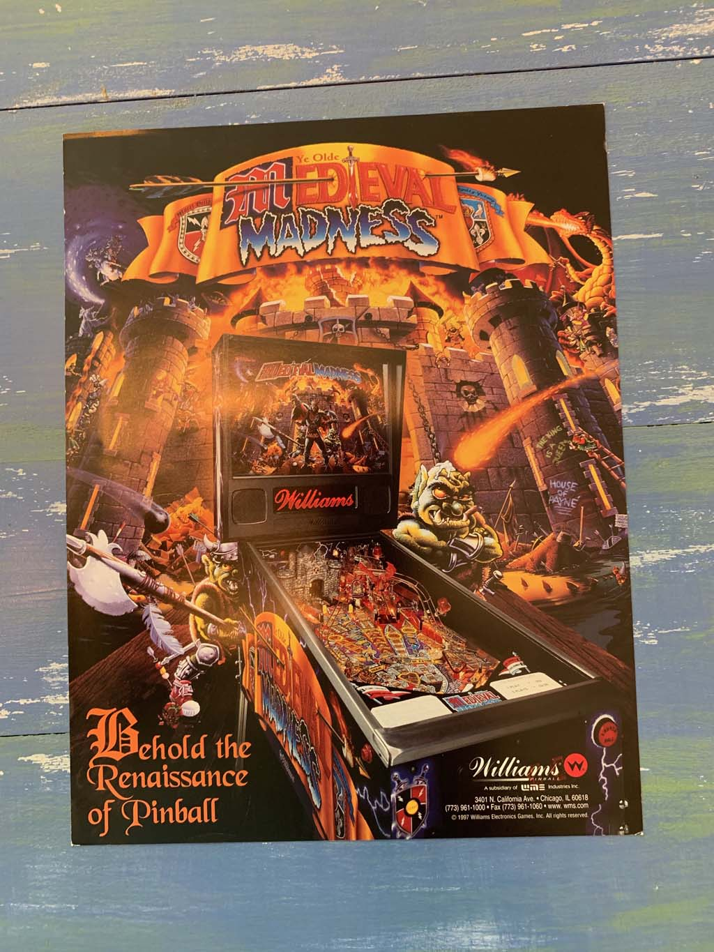 Medieval Madness Pinball Flyer