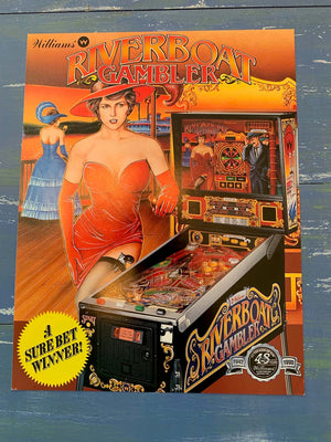 Riverboat Gambler Pinball Flyer