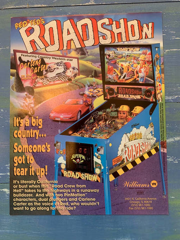 Road Show Pinball Flyer