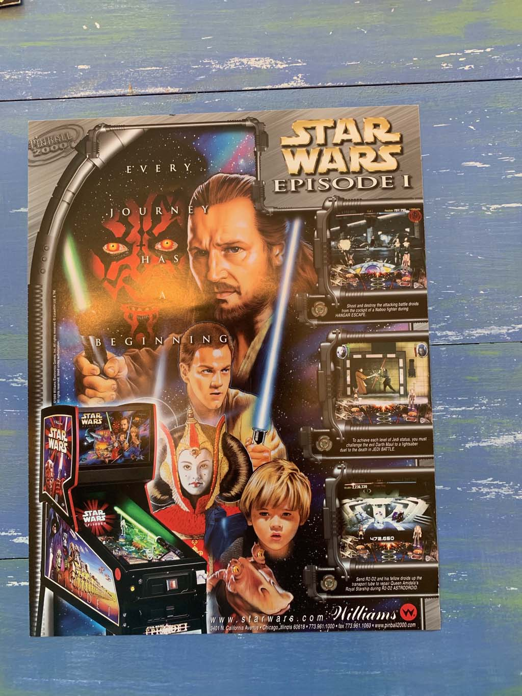 Star Wars Pinball 2000 Pinball Flyer