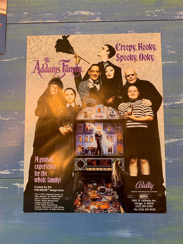 The Addams Family Pinball Flyer