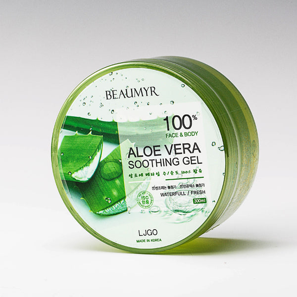 Aloe Vera Soothing Gel Korean Skin Care 100% 300ml x 3pcs - Kpopstores.Com