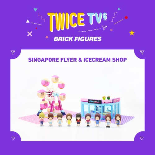 TWICE TV6 Brick Figures Ice Cream Shop  A B C - Kpopstores.Com