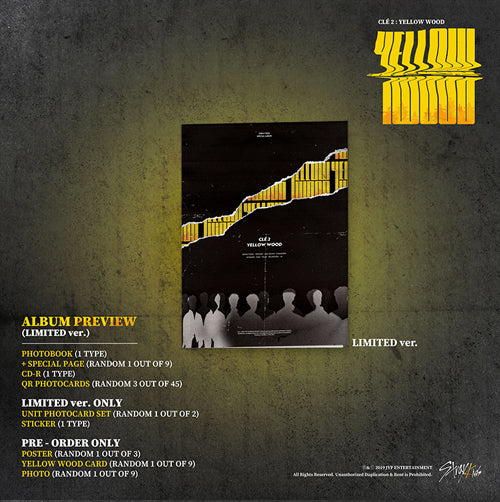 Used Stray Kids Yellow Wood Limited Edition Special Album