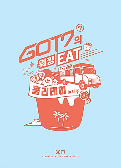 Used GOT7 Working EAT Holiday in Jeju 3 Disc Photobook Korea Version