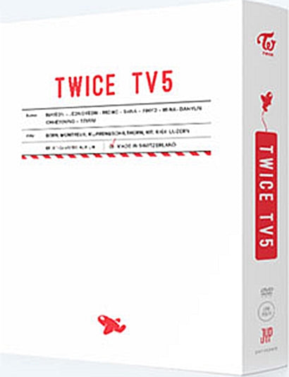Used Twice - Twice TV5: Twice in Switzerland (3DVD + Photobook + Random Postcard) (Korea Version)