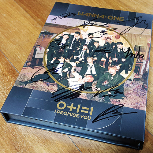 Signed WANNA ONE 0+1=1 I PROMISE YOU Night Version - Kpopstores.Com