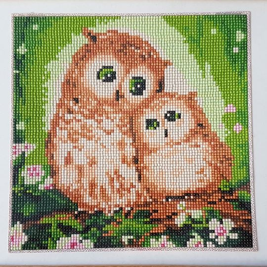 Mom and Baby Owl Diamond Artwork