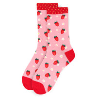 Ladies Strawberry Novelty Socks