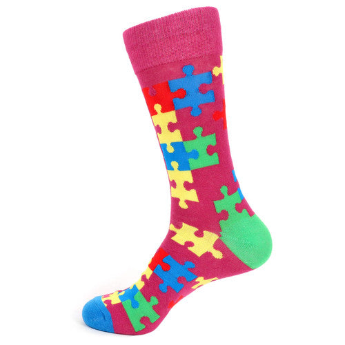 Men's Autism Awareness Novelty Socks
