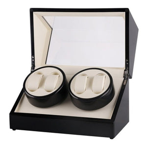 Useful Gift:GENBOLI Luxury Black 4 Slots Watch Winder