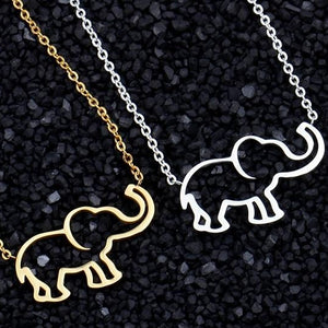 Useful Gift:Gold/Silver Plated Elephant Necklace