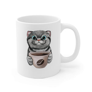 Useful Gift:Funny Coffee Cat Mug