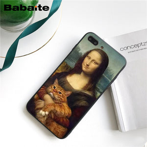 Useful Gift:Funny Oil Painting iPhone Case 2019
