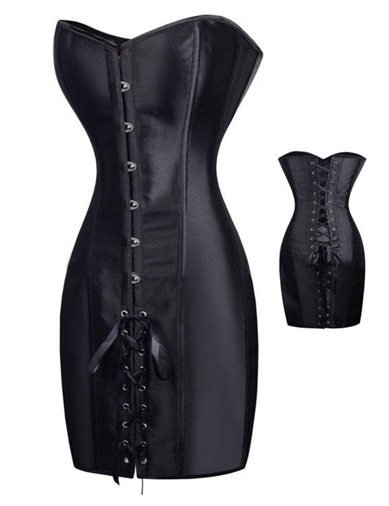 7df502480a9 AA9267 Vintage leather harness gothique steel boned corset black steampunk corset  dress gothic corset overbust latex