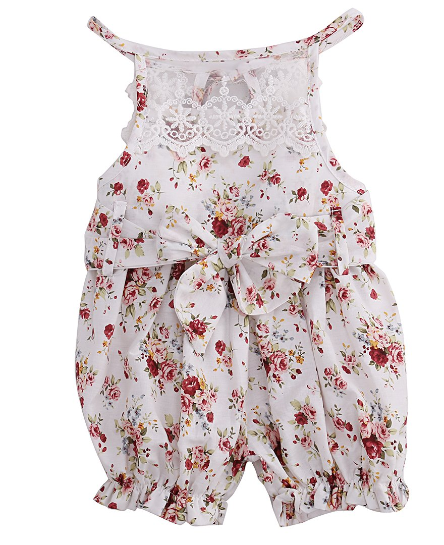 9266f665bd6e 2017 Hot Summer Floral Lace Romper Newborn Baby Girls Clothes ...