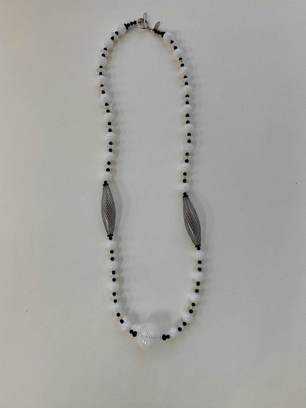 Vintage beaded necklace: glass, crystal, Murano beads