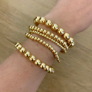 Gold stacking ball bracelet