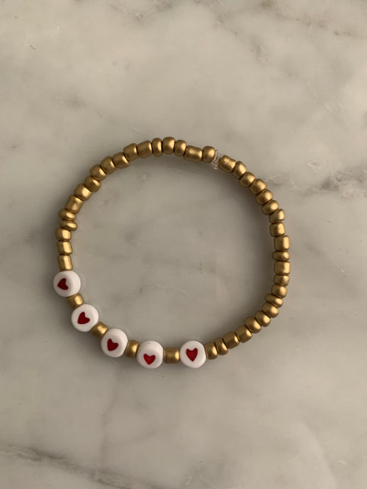 Queen of hearts bracelet