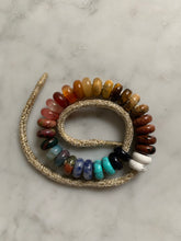 Load image into Gallery viewer, The full semi precious lurex bracelet