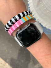 Load image into Gallery viewer, Pinks and blues enamel bracelet