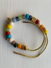 Load image into Gallery viewer, Semi Precious Stone Lurex Rainbow Bracelet