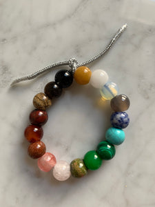 The full large semi precious lurex bracelet
