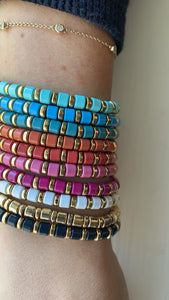 stackable mini enamel bracelets