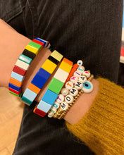 Load image into Gallery viewer, Rainbow block bracelet [set of three]