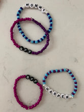 Load image into Gallery viewer, CUSTOM SAYING BRACELET colorful beads [one bracelet]