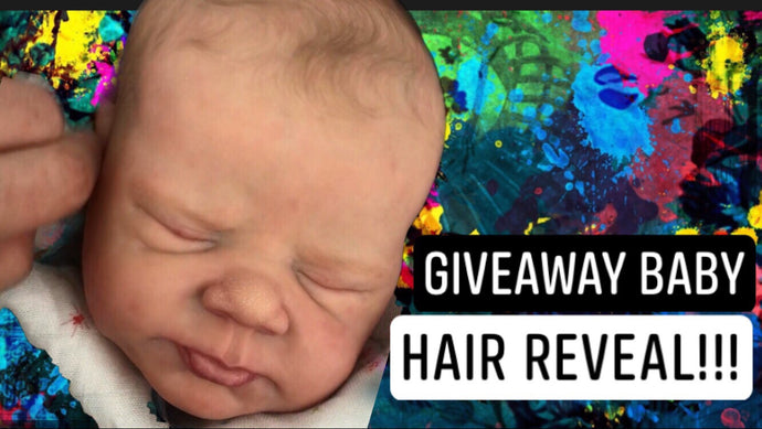 The Giveaway Baby has HAIR!!!!!!
