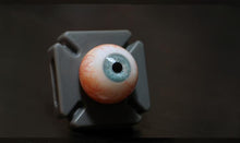 Load image into Gallery viewer, Blue Velvet 24mm Camera Ready Glass Eyes from Fourth Seal