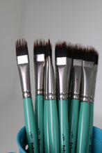 Load image into Gallery viewer, Custom Cut Filbert Comb Hair Painting Brush