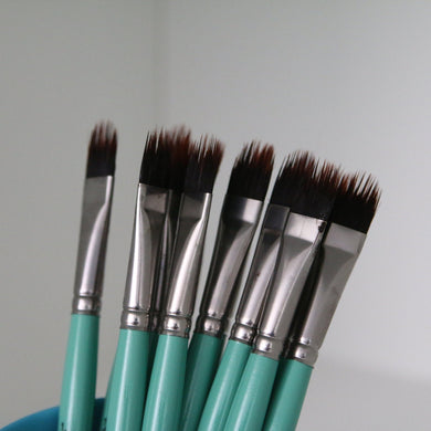 Custom Cut Filbert Comb Hair Painting Brush