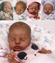 Load image into Gallery viewer, READY TO SHIP Painted Hair EVERLEE Altenkirch Biracial Reborn Baby Girl - Reborn, Sweet Shaylen Maxwell iiora 2016-2021