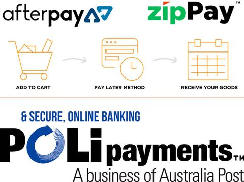 Three new payment options. Two Layby Checkout Options - zipPay vs Afterpay!