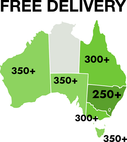 Map of free shipping thresholds
